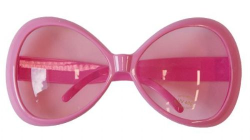 Party Glasses Large Pink 50s 60s Vintage Classic Retro Rockabilly Rock n Roll